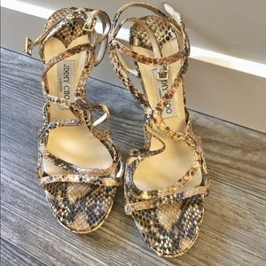 Jimmy Choo snakeskin sandals size 9.5